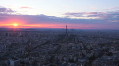Cityscape. Aerial View - Montparnasse Tower.  Paris, France. 1 - stock footage