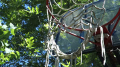 Basketball hoop goal basket ball Stock Footage