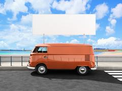beach van - stock illustration