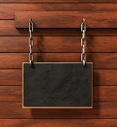chalkboard on wood - stock illustration