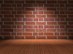 brick wall - stock illustration