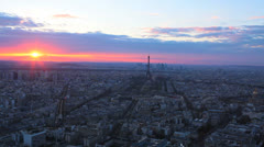 Cityscape. Aerial View - Montparnasse Tower.  Paris, France. 2 Stock Footage