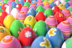 Dozens of easter eggs Stock Illustration