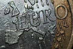 Extreme macro euro Stock Illustration