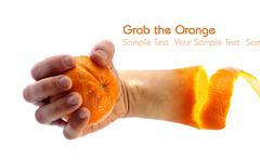 Grab the orange Stock Illustration