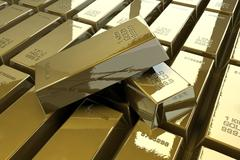 golden bars - stock illustration