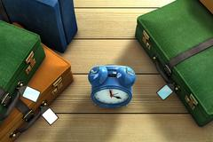 time for travelling - stock illustration