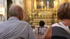 Sunday mass in Roman church (5) Stock Footage