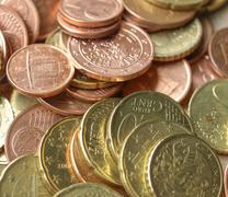 Stock Photo of euro coins background
