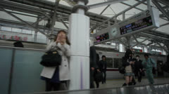 Tokyo Subway Out Train Window 2 - stock footage