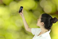 selfies - stock photo