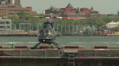 Downtown Manhattan Heliport 1 Stock Footage