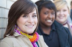Multi-racial female college students Stock Photos