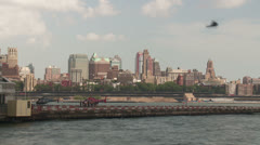 Downtown Manhattan Heliport Timelapse 1 Stock Footage