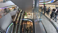 Stock Video Footage of Hikarie Tower Shibuya shopping escalators