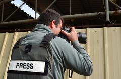 Professional photojournalist Stock Photos