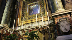 Sunday mass in Roman church (2) Stock Footage