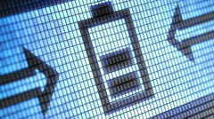 Battery icon Stock Footage