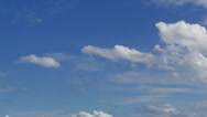 Cloud with blue sky-001 Stock Footage