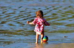 childhood - gams and play - stock photo