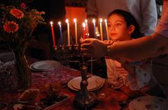 jewish holidays hanukkah - stock photo