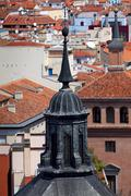 aerial view of madrid (spain) / dome and roofs of the city - stock photo