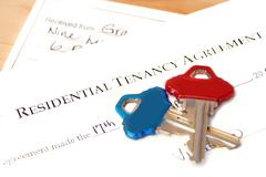Residential tenancy agreement Stock Photos
