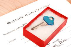 residential tenancy agreement - stock photo