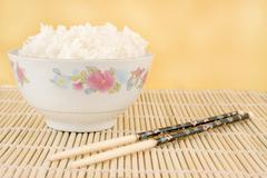 Steamed white rice Stock Photos