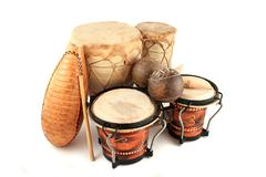 latin rhythm instruments - stock photo