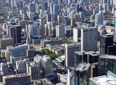 toronto cityscape - stock photo
