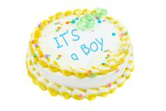 it's a boy festive cake - stock photo