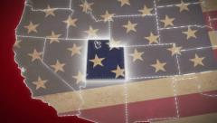 USA map, Utah pull out, all states available. Red background - stock footage
