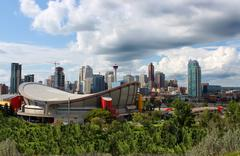 Calgary office buildings Stock Photos