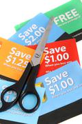 Coupon clipping Stock Photos