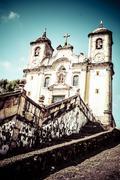Chico rei church in ouro preto - minas gerais - brazil Stock Photos