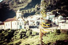 view of the unesco world heritage city of ouro preto in minas gerais brazil - stock photo