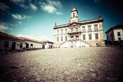 Stock Photo of view of the unesco world heritage city of ouro preto in minas gerais brazil