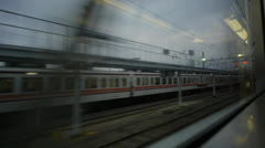 Tokyo Subway Out Train Window 11 Stock Footage