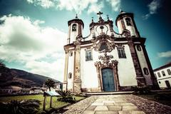 Stock Photo of view of the igreja de nossa senhora do carmo of the unesco world heritage cit