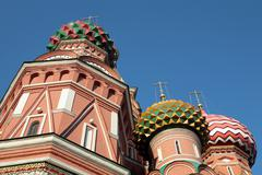 Blessed  basil cathedral at day Stock Photos