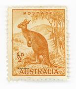 Australian vintage stamp Stock Photos