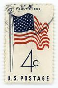 Vintage postage stamp USA - stock photo