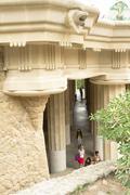 park gaudi in barcelona - stock photo