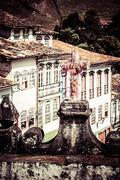 Stock Photo of view of the unesco world heritage city of ouro preto in minas gerais brazil