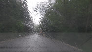 Stock Video Footage of By car on mountain roads in rain