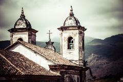 View of the unesco world heritage city of ouro preto in minas gerais brazil Stock Photos