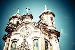 View of the igreja de sao francisco de assis of the unesco world heritage cit Stock Photos
