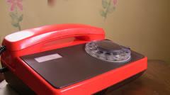 Retro telephone Stock Footage