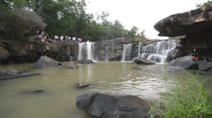 Tat Ton Waterfall at chaiyaphum in Thailand Stock Footage